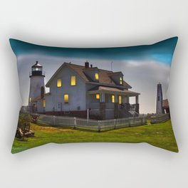 The Lights are on at Pemaquid Rectangular Pillow