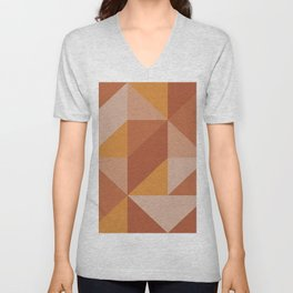 Burn Geometric Abstract Unisex V-Neck