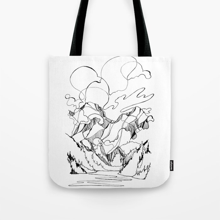 Powell River and the Peaks Beyond Tote Bag