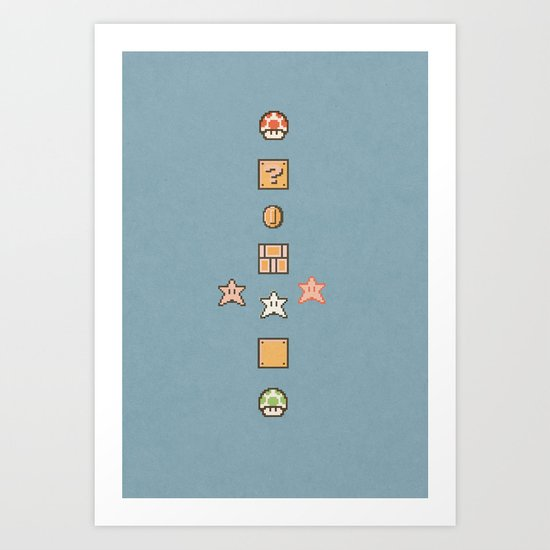 Super Mario Bros. 3 Art Print