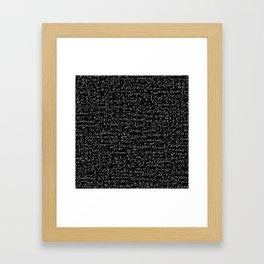 Physics Formulas Framed Art Print