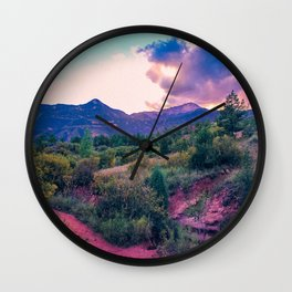 Glowing Garden of the Pinks Wall Clock