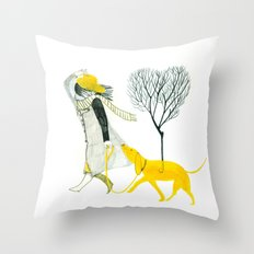 LOVE AND DOGS Throw Pillow