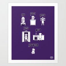 Common Commands Art Print