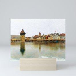 Lucerne Cityscape 2 Mini Art Print