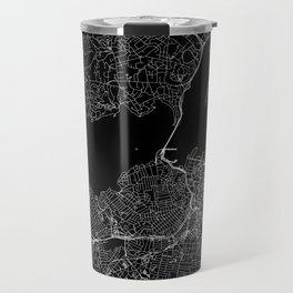 Auckland Black Map Travel Mug