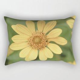 Beautiful Yellow Vintage Flower Rectangular Pillow