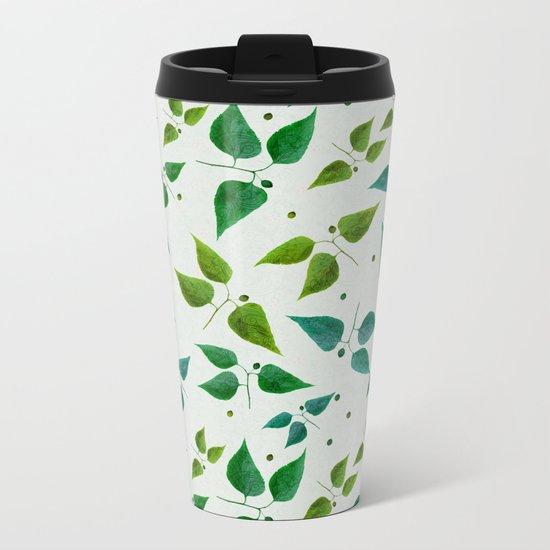 Floral Butterflies Metal Travel Mug