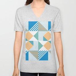 Geometric Polka Dots Petit Pois Cream Unisex V-Neck