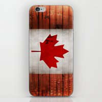 canada iPhone & iPod Skins featuring Canada by Arken25