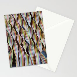 Colorful Striped Ribbons Stationery Cards