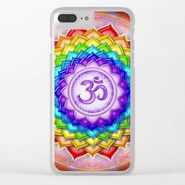 Sahasrara Chakra - Crown Chakra Rainbow Lotus - Series V Clear iPhone Case
