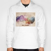 las vegas Hoodies featuring Las Vegas skyline art by jbjart