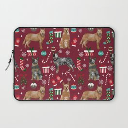 Austrian Cattle Dog red and blue merle christmas presents holiday dog breed pattern pet friendly Laptop Sleeve