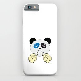 Panda Bear Face with Steam From Nose iPhone Case