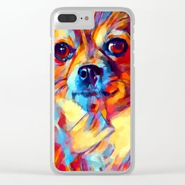 Chihuahua Watercolor Clear iPhone Case