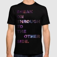 Break On Through Mens Fitted Tee MEDIUM Black