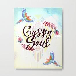 Tribal Boho Gypsy Soul Metal Print