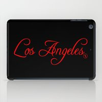 los angeles iPad Cases featuring Los Angeles by No Zonies