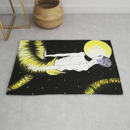 Rebirth Full Moon Transformation Origiinal Artwork Rug