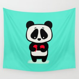Sad Panda Wall Tapestry