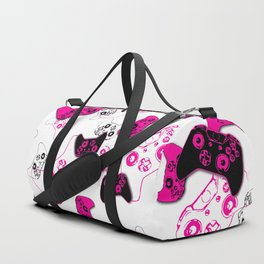 Video Game White & Pink Duffle Bag
