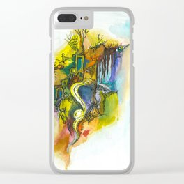 Symbols and fears Clear iPhone Case