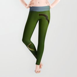 Spring Shaped Passion Flower Tendril  Leggings
