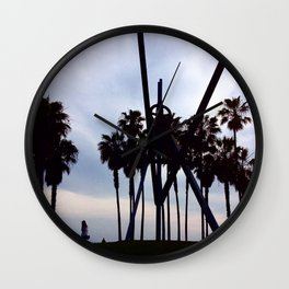 K Town Beach Wall Clock