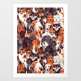 Pack of Dogs Art Print