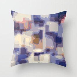 blue yellow and pink painting abstract background Throw Pillow