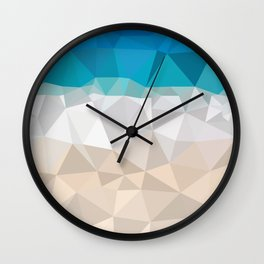 Low poly beach Wall Clock