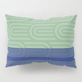 Rounded Green Pillow Sham