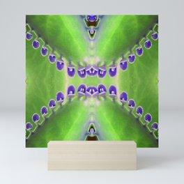 Green and Purple Abstract Mini Art Print