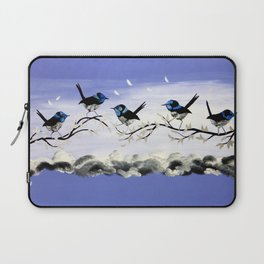 Purple Art with Gray Laptop Sleeve