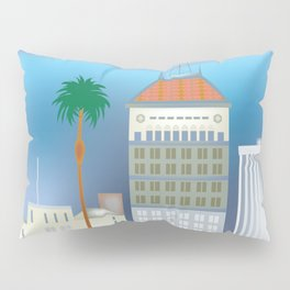Fresno, California - Skyline Illustration by Loose Petals Pillow Sham