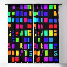 Rainbow Pixel in darck Blackout Curtain