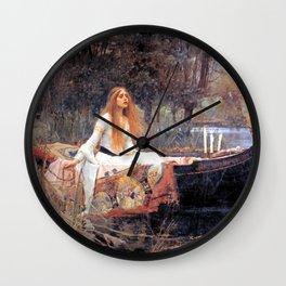 The Lady Of Shalott John William Waterhouse Wall Clock