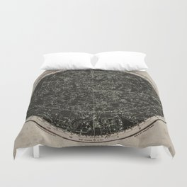 Constellations of the Northern Hemisphere on Vintage Paper Duvet Cover