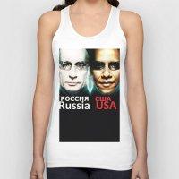 russia Tank Tops featuring Russia  USA by Pavlo Tereshin