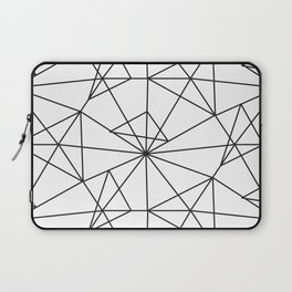 Contemporary black white abstract geometrical Laptop Sleeve