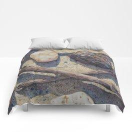 Rock and Stick Art Print  Comforters