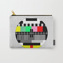 Retro color tv test screen Carry-All Pouch