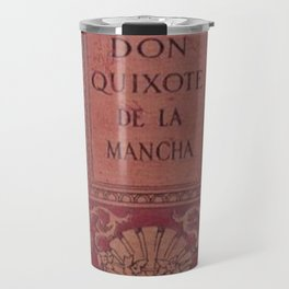 Antique Book Cover * Literacy Art for Book Lovers * Don Quixote * Red * Gold #donquixote Travel Mug