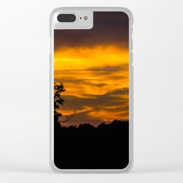 Fiery Skys Clear iPhone Case