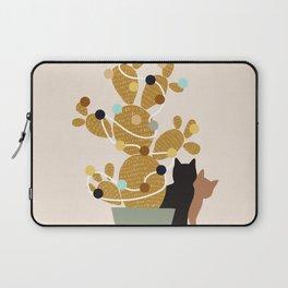 Merry Cat-Mas #cactus #Christmas Laptop Sleeve