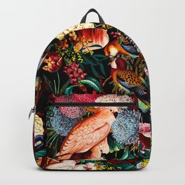 Floral and Animals pattern II Backpack