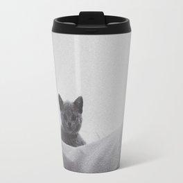 Kitten under the sheets Travel Mug