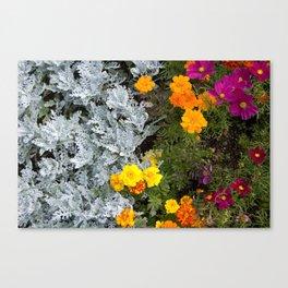 Flowerbed Canvas Print