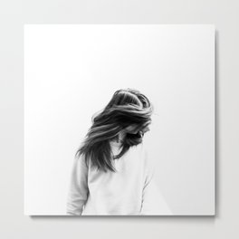 hair flick Metal Print